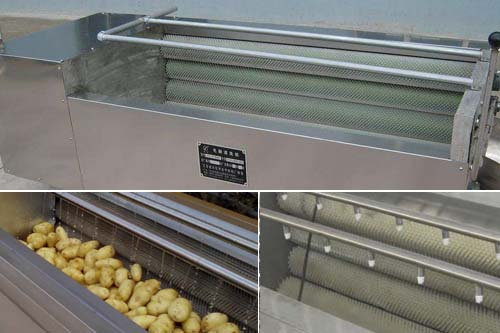 Potato peeling and washing machine